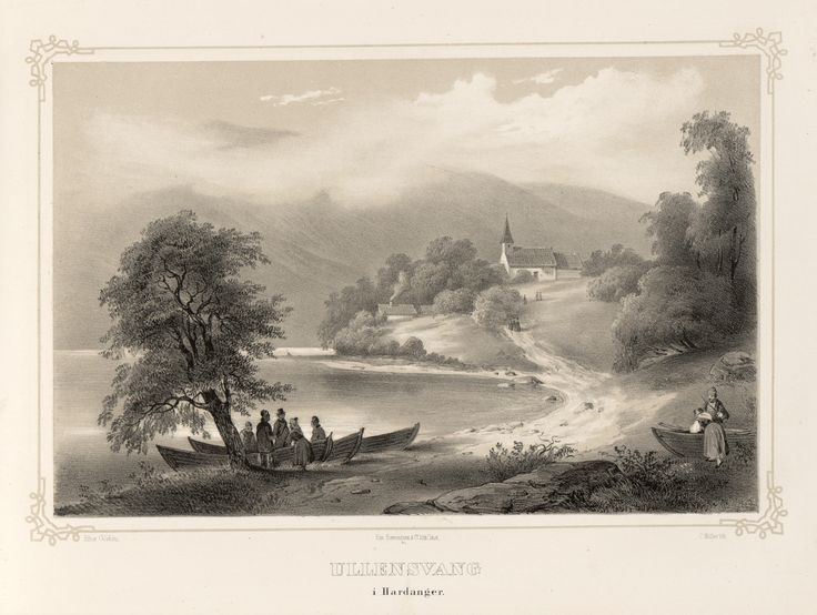 Norge fremstillet i Tegninger - Johan Görbitz - Ullensvang i Hardanger.  jpg (4896×3688)