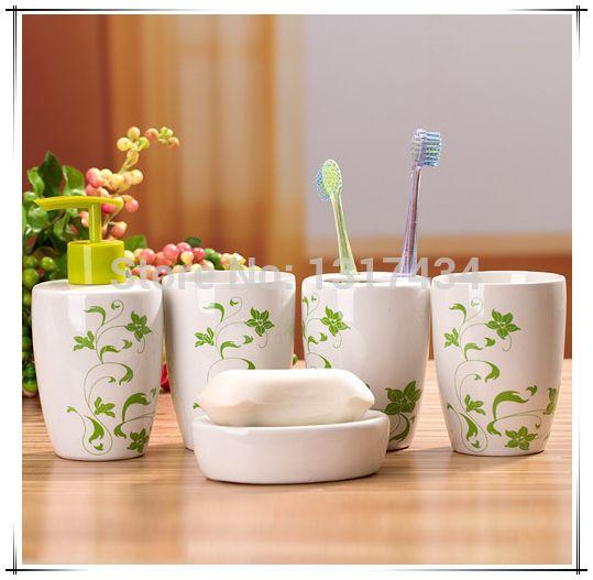 Produto conjunto de banheiro de cinco peças acessórios do banheiro caneca de dente de sabão sabão titular escova de dentes alishoppbrasil