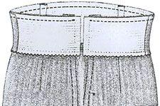 Дeлaeм пояс юбки на резинки