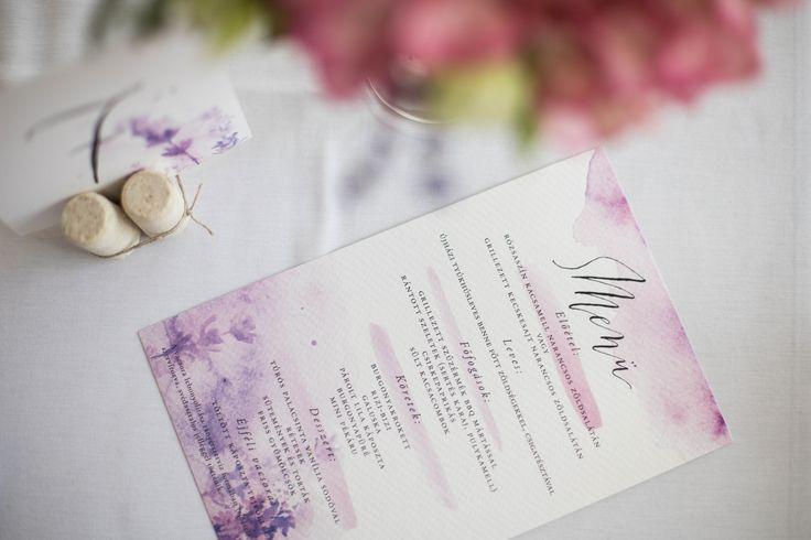 Ani&Szili wedding - lavender decoration