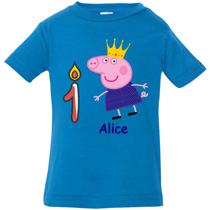 Personalized Peppa Pig Clothing Birthday party shirt, custom Name, Age! Peppa Pig clothing - Alice 1 year old Infant Jersey Tee.  peppa pig, peppa pig toys, peppa pig characters, peppa pig costume, peppa pig george, peppa pig birthday, peppa pig clothes, peppa pig party ideas, peppa pig shoes, peppa pig birthday party, peppa pig family, peppa pig dress, peppa pig wallpaper, peppa pig cupcakes, peppa pig meme, peppa pig bag, peppa pig shirt