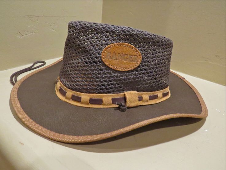 Suede Leather Wide Brim Bush Straw Hat Brown Airflow Vent Safari Men Women 7 | @eBay