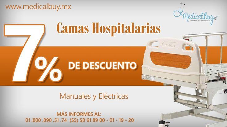 Camas hospitalarias 7% de descuento  Cotiza con nosotros al mejor precio www.medicalbuy.mx