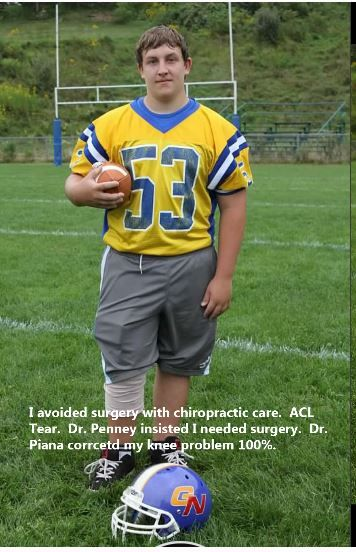 """""""I avoided surgery with chiropractic care. ACL tear, Dr. Penney insisted I needed surgery. Dr. Piana corrected my knee problem 100%"""" Chiropractic really works, try it our for yourself! Call 888-800-8404 to make an appointment with us"""
