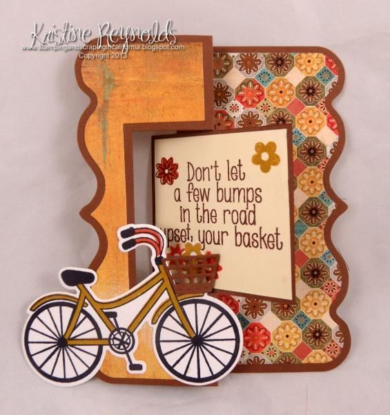 I used the Sizzix Fancy Frame Flip it card die for the card base.  New Bicycle2stamp and matching die from the stamps of life.