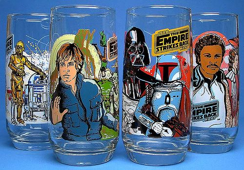 Empire Strikes Back collector glasses from Burger King (1980)