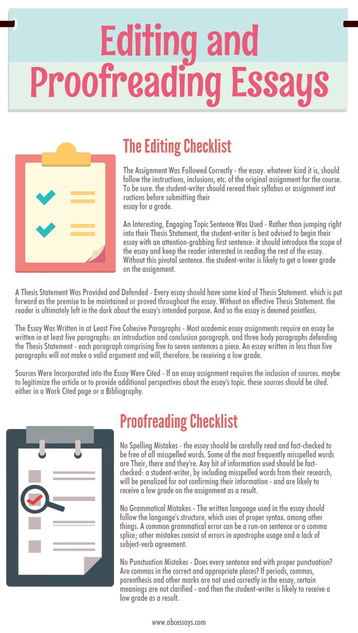Essay Editing Tips and Samples