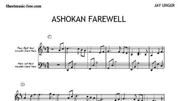 Ashokan Farewell Cello Sheet Music Violin Sheet Music Piano Sheet Music Jay Unger Free download pdf