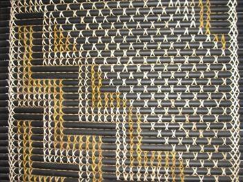 Tukutuku Panel made with Kiekie, Pingao, Toetoe according to the traditional way of weaving.