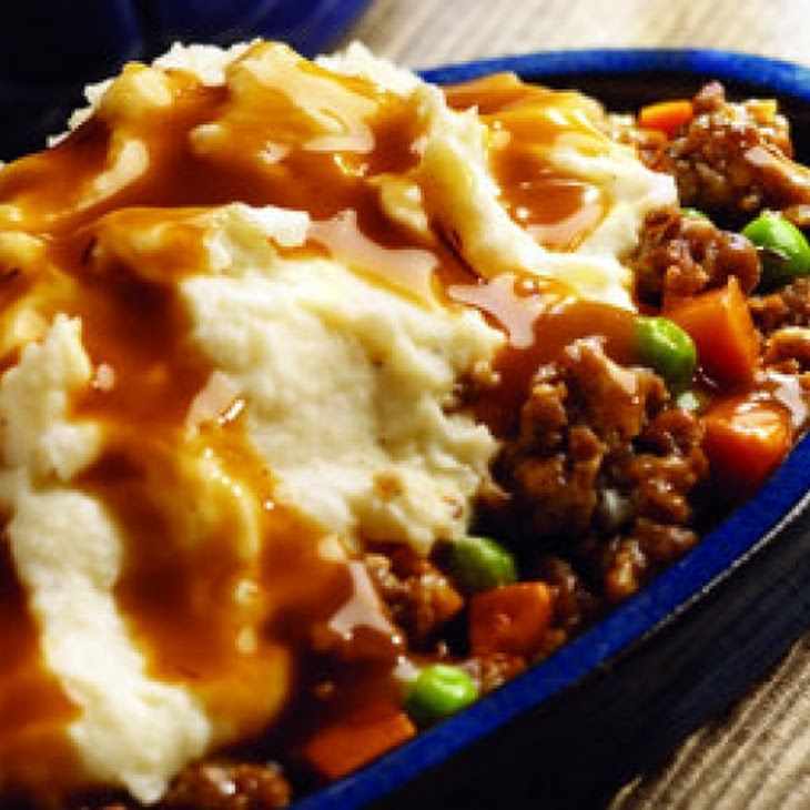 Crock Pot Shepherd's Pie Recipe (using rachels rays sauce but subbing hamburger and fz mixed vegs.