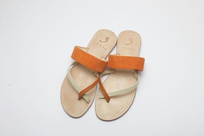 ioanna orange ( handmade leather sandal )