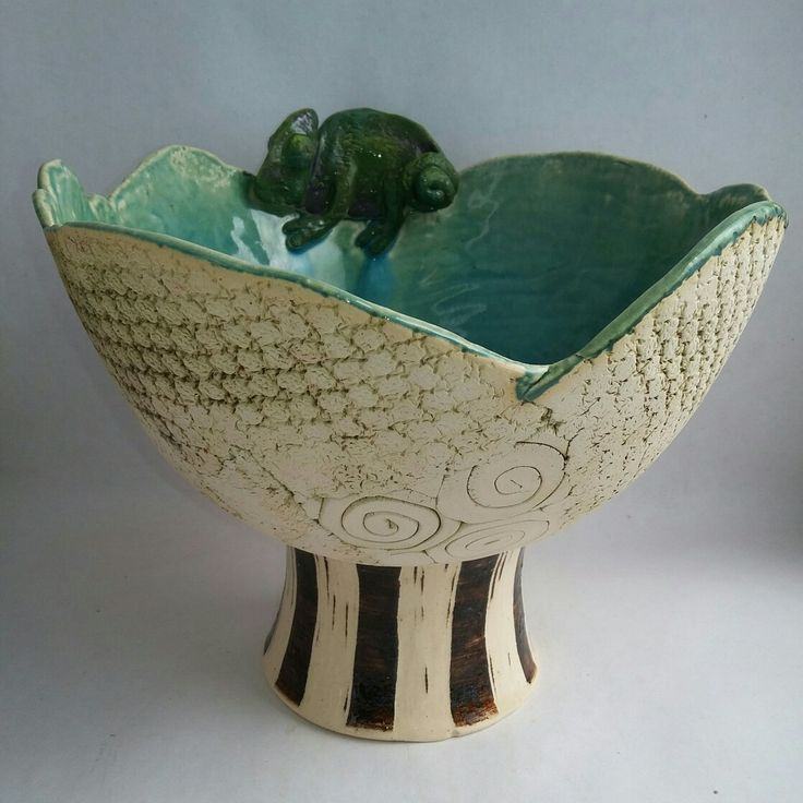 Large Chameleon Bowl by Jennifer Steyn, South Africa