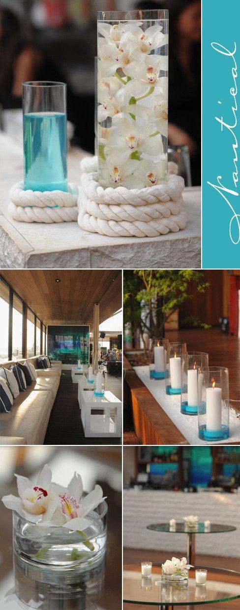 Decoration. Wedding. Table. Blue & White