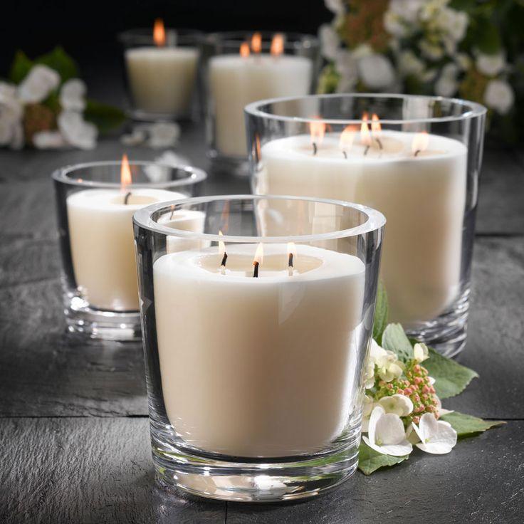 Engels Kerzen Léonith, luxekaars in kristallen vaas