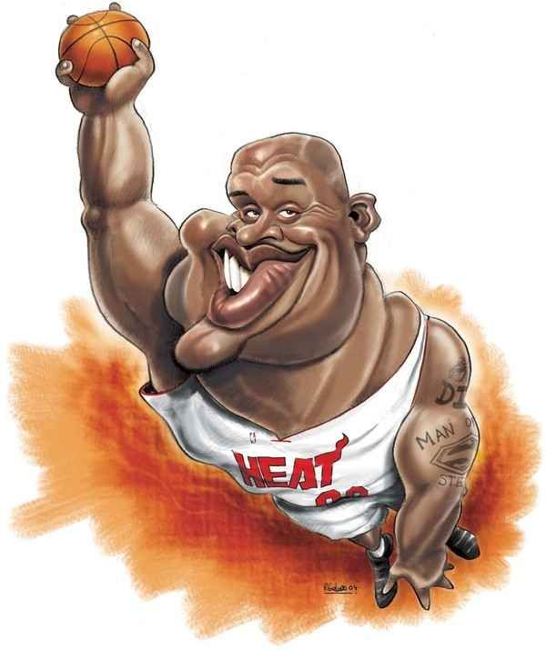 Shaquille O'Neal | 29 Celebrity Caricatures That Are Incredibly Accurate