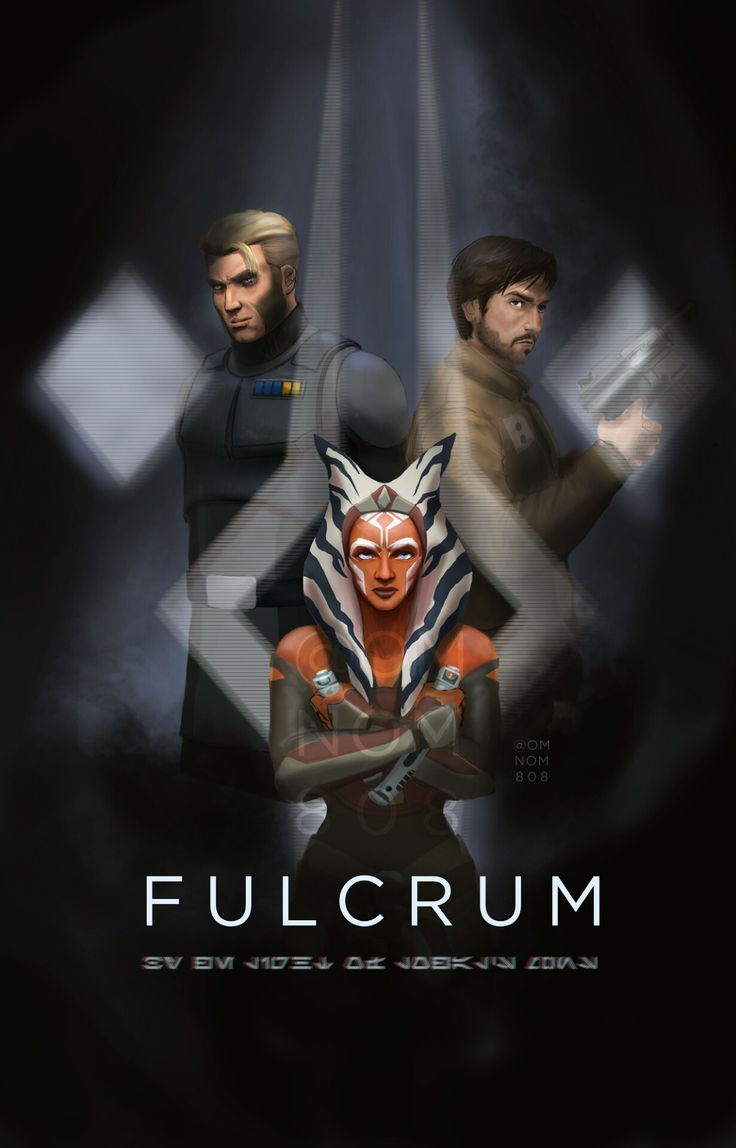 THIS NEEDS TO BE EVERYWHERE! FULCRUMS UNITE!!!!!!! #Ahsoka #AlexsandrKallus #CassianAndor #theyareawesome