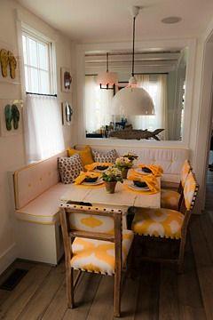 Lovely Dining Booth In 2011 Coastal Living Idea House, East Beach Norfolk, Virginia