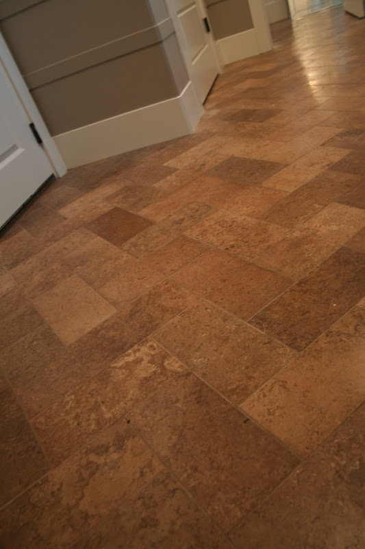 herringbone travertine floors