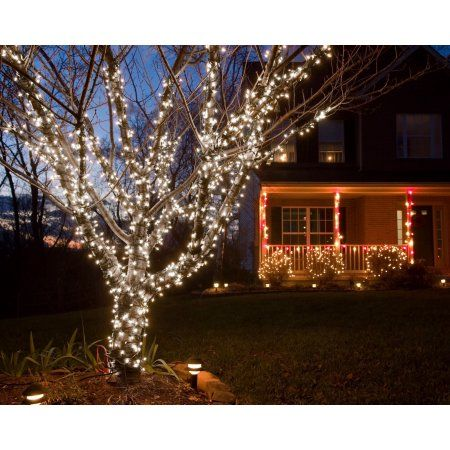 Fairy Lights White Light Walmart Com Christmas Lights Outside Outdoor Christmas Lights Led Christmas Tree Lights