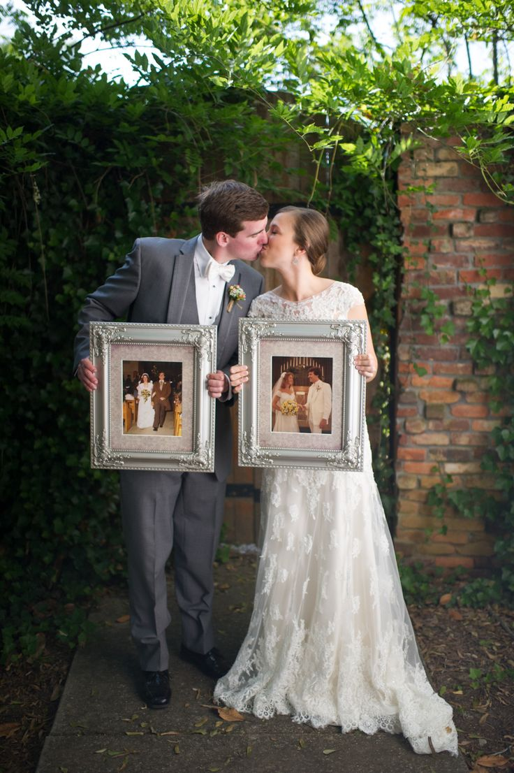 intimate wedding packages atlantga%0A Fun picture of the bride and groom holding portraits of parents u     weddings    Carl u