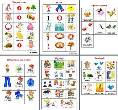 Стихи в модельных таблицах (мнемотаблицах)