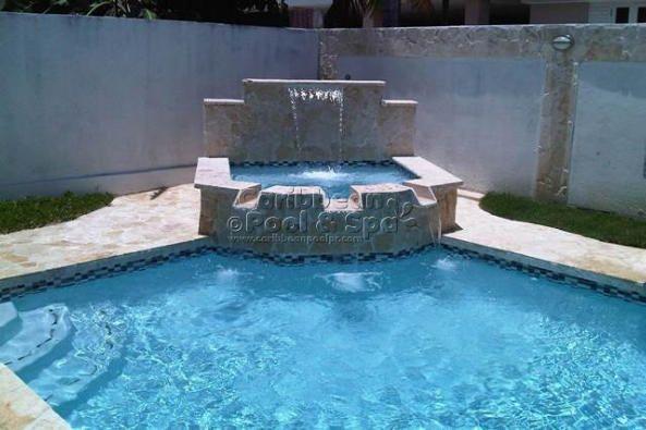 Caribbean pool and spa construcci n de piscinas en for Construccion albercas naturales
