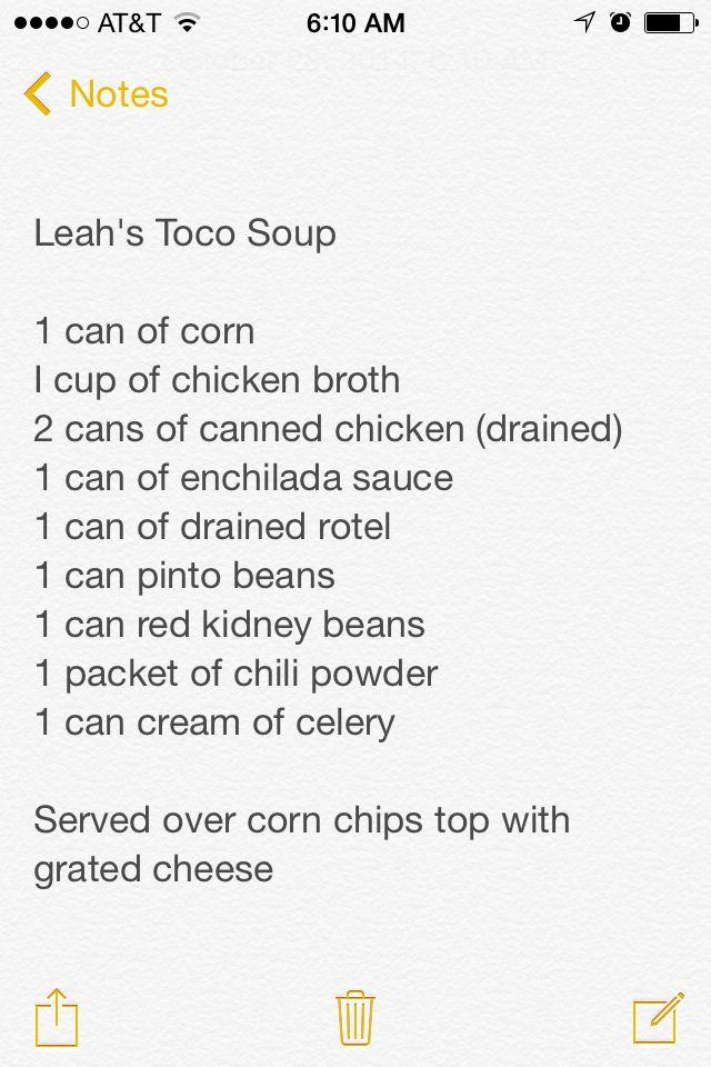 Leah's toco soup