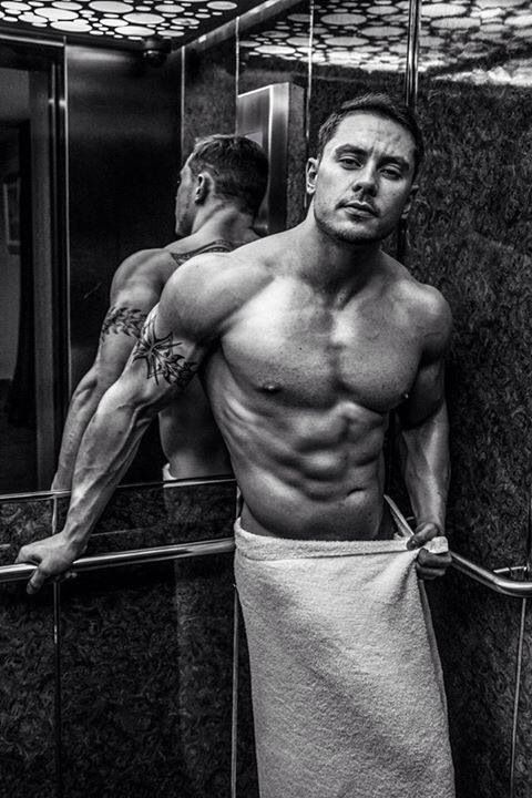 B&W Marshall... In a towel... In an elevator... Oh, my!