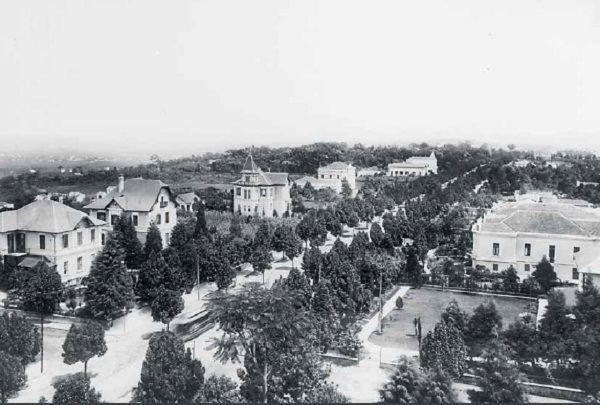 Paulista, na região da Rua da Consolação, em 1902