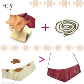 Simple leather fringe necklace + tutorial from id plus DIY