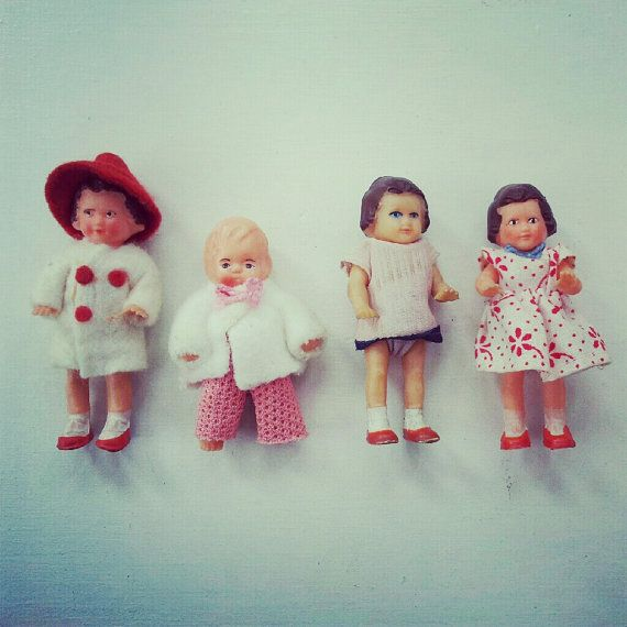 The sweetest mini dolls from the 50s by Verymelicious