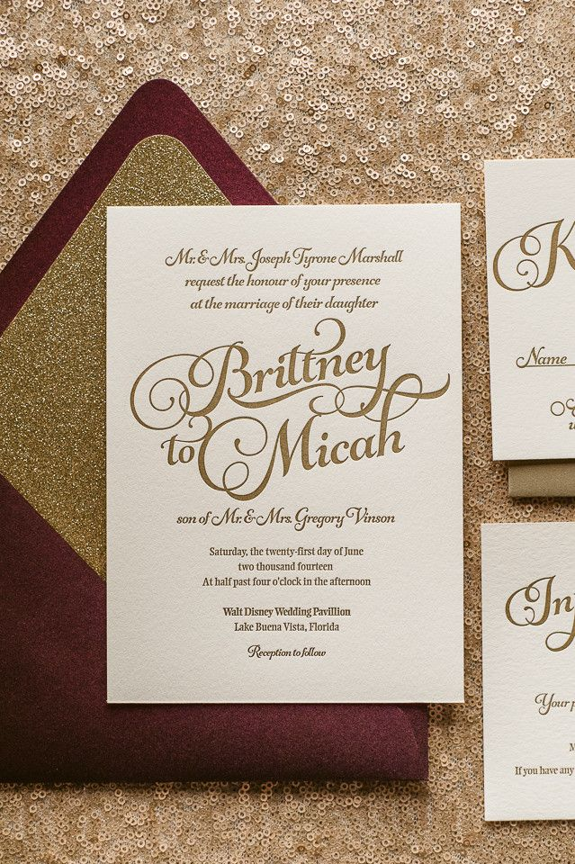 sparkling fall wedding invitations, wine, coral, blush, gold, 2014 fall wedding trends, letterpress wedding invitations, glitter wedding invitations