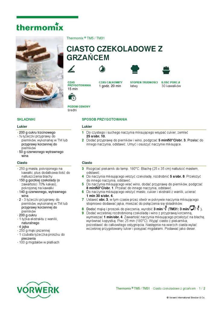 thermomix - Ciasto czekoladowe z grzancem