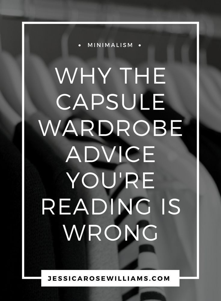 When I created my minimal capsule wardrobe I read all the advice out there. It turns out you have to do your own thing to get it right.