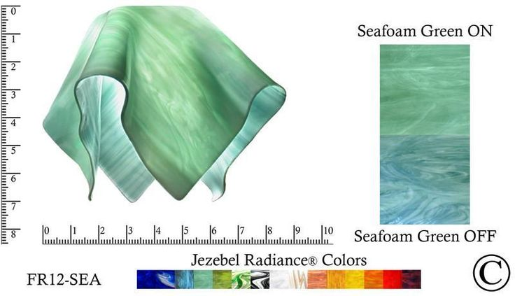 """Jezebel Radiance® Small Flame Seafoam Green Glass Pendant/Ceiling Fan Light Replacement Glass Shade, 1 5/8"""" hole"""