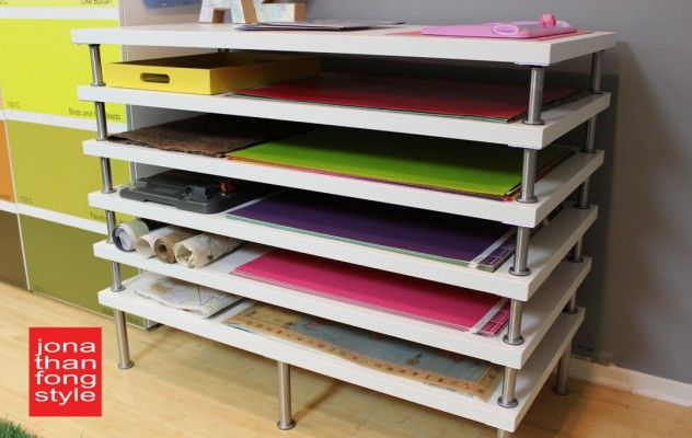 IKEA done flat file storage by Jonathan Fong! I'm going to do this for my drawing supplies