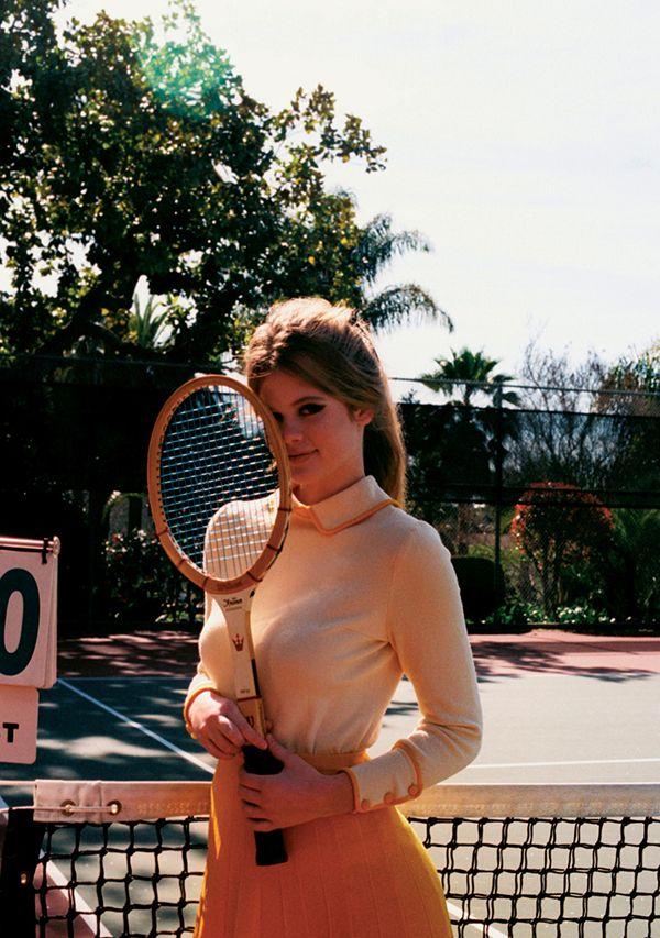 mustard / cream tennis fashion #TennisPlanet www.tennisplanet.com
