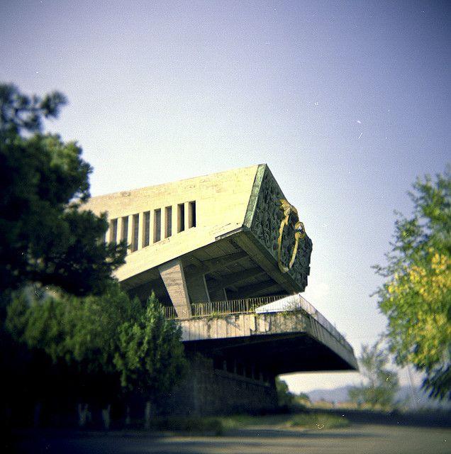 Soviet building in Tbilisi, Georgia  #socialist #brutalism #architecture