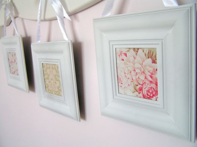 Shabby chic shabby and chic on pinterest for Dollar store art