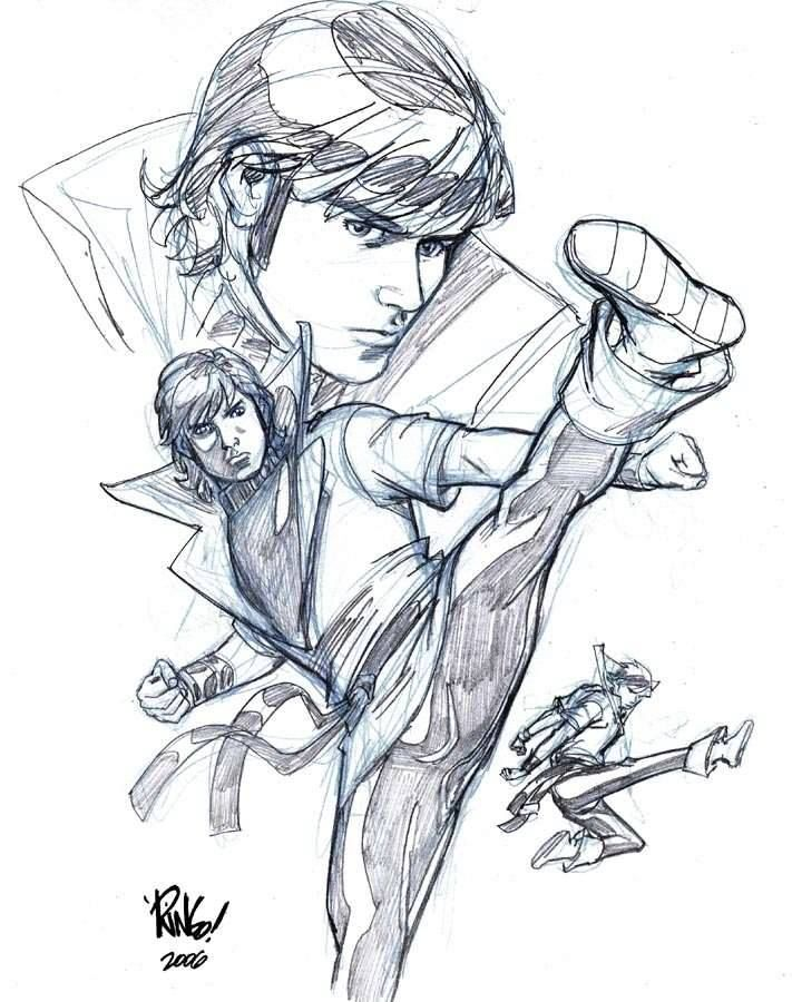 Sassy 70s Karate Kid In Action By The Terribly Missed Mike Wieringo
