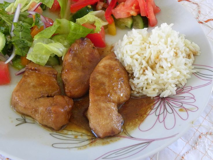 This Teriyaki Chicken may not be very traditional but I cooked it with ingredients I had at home.  It is easy to make, with low calories but with so much flavour coming from the orange glaze. #teriyaki #chicken #Japanese_cuisine