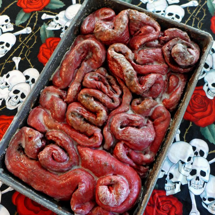red velvet cinnamon roll guts from kitchen overlords dead delicious cookbook halloween stuffhalloween - Halloween Stuff