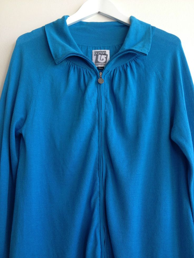 Ladies #Burton Blue #Snowboarding Snow Winter Jacket Cardigan - Med  Now Selling! Click through to go to eBay auction.