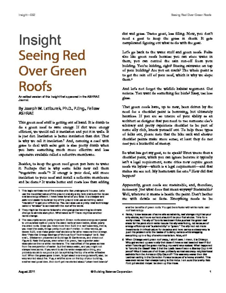 BSI-052: Seeing Red Over Green Roofs