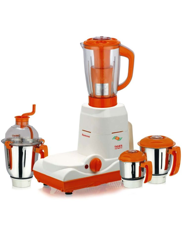 FAMOUS KITCHEN TIGER 750 WATTS 4 JAR COOL MIXER GRINDER( WHITE & ORANGE ) Rs. 4650.00 @ArtistryC.in: Online Multi- Brands Retail Shop: Best Buy: Best Value Deals in Jewellery, Electronic Gadgets, Clothing, Accessories, Bath & Body Products, Footwears, Home & Office Living, Corporate Gifting, Loyalty Programs, and Personalize Products Offering