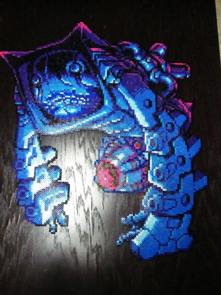 Metroid: Nightmare Perler by AlyciaZU
