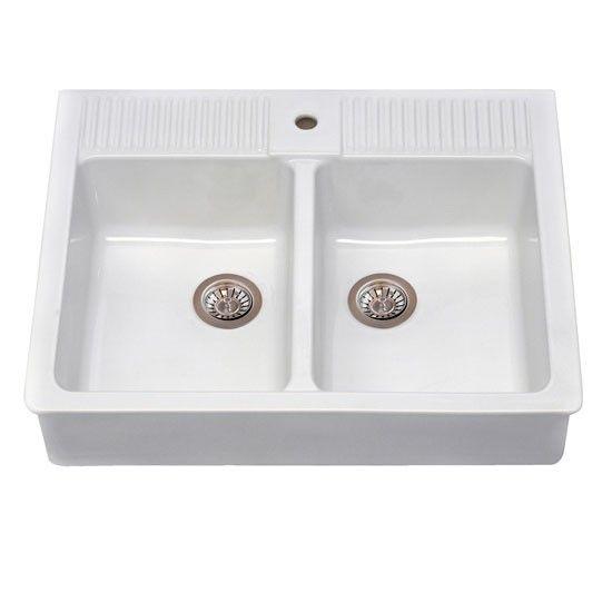 Domsjö double-bowl sink from Ikea | Kitchen sinks | PHOTO GALLERY | Beautiful Kitchens | Housetohome.co.uk