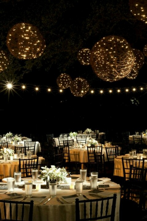 Instead of wicker balls with light strands, make those white string balls?