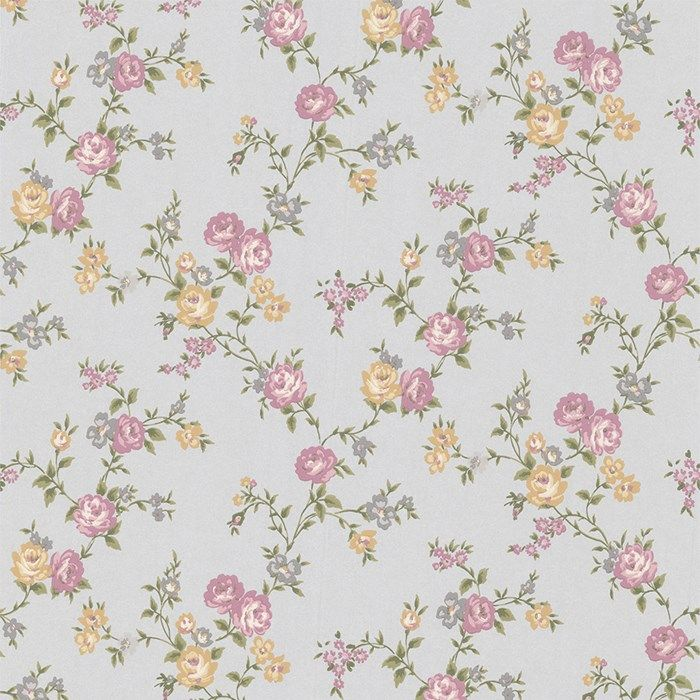 Rose Cottage Floral Wallpaper - Purple Flower Wall Coverings by Graham  Brown