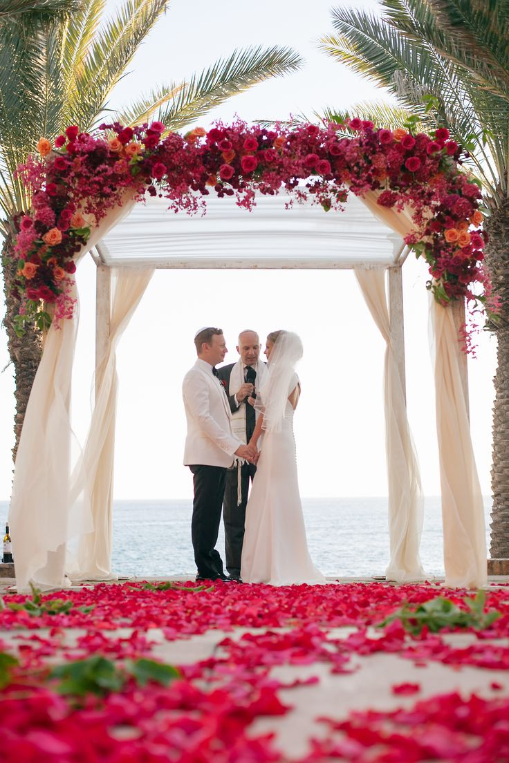 It doesn't really get more dreamy than this. http://www.stylemepretty.com/destination-weddings/2014/05/23/colorful-cabo-wedding/